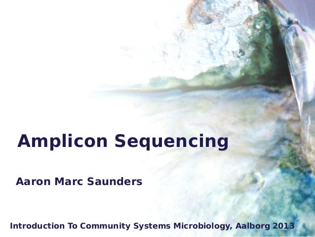 Amplicon Sequencing Introduction