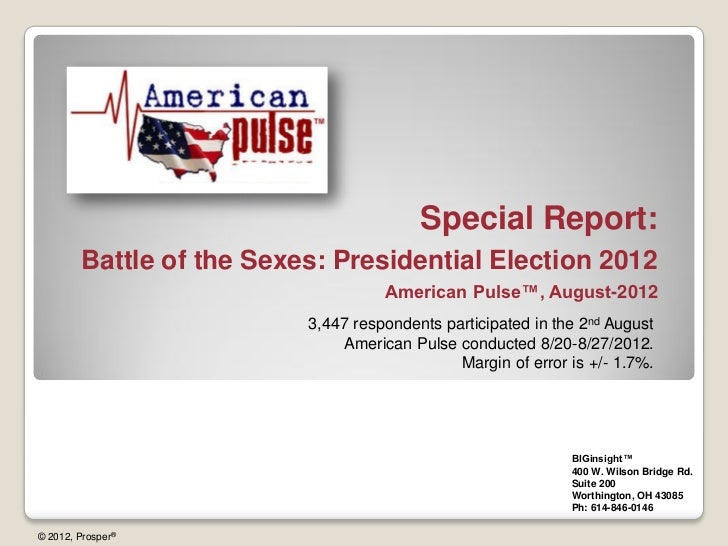 Battle of the Sexes: Presidential Election 2012