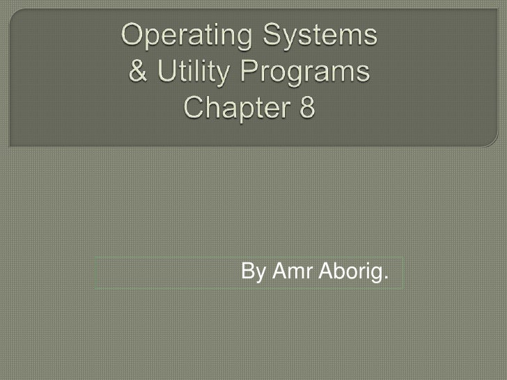 Amr Chap 08 Operating Systems & Utility Programs