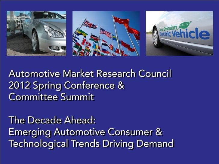 © 2012 VALIENT AUTOMOTIVE MARKET RESEARCH