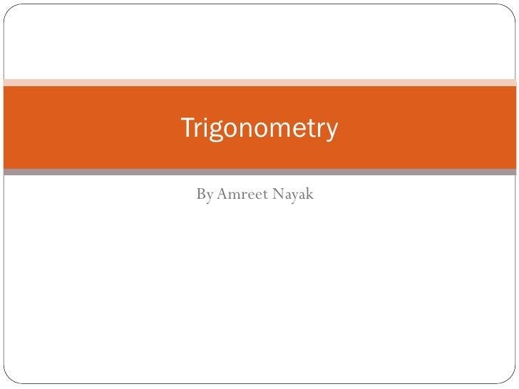 Trigonometry By Amreet Nayak