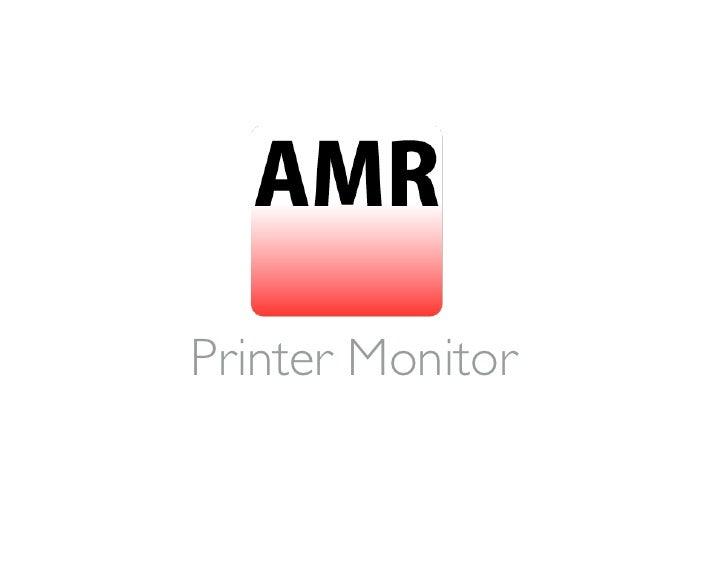 Printer Monitoring Software AMR