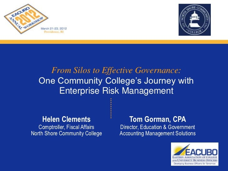 One Community College's Journey with Enterprise Risk Management  - Tom Gorman
