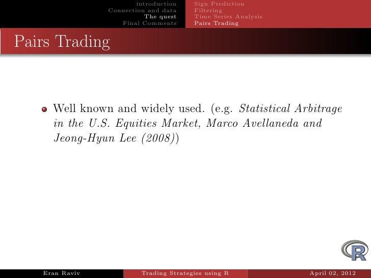 Testing trading strategies in r