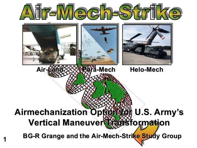 Air-Land     Para-Mech     Helo-Mech    Airmechanization Option for U.S. Army's       Vertical Maneuver Transformation1   ...