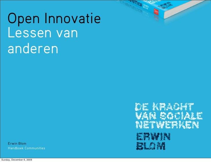 Open Innovatie / Lessen van anderen