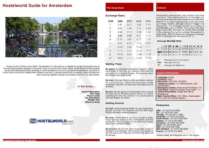 Hostelworld Guide for Amsterdam                                                                                 The Essent...