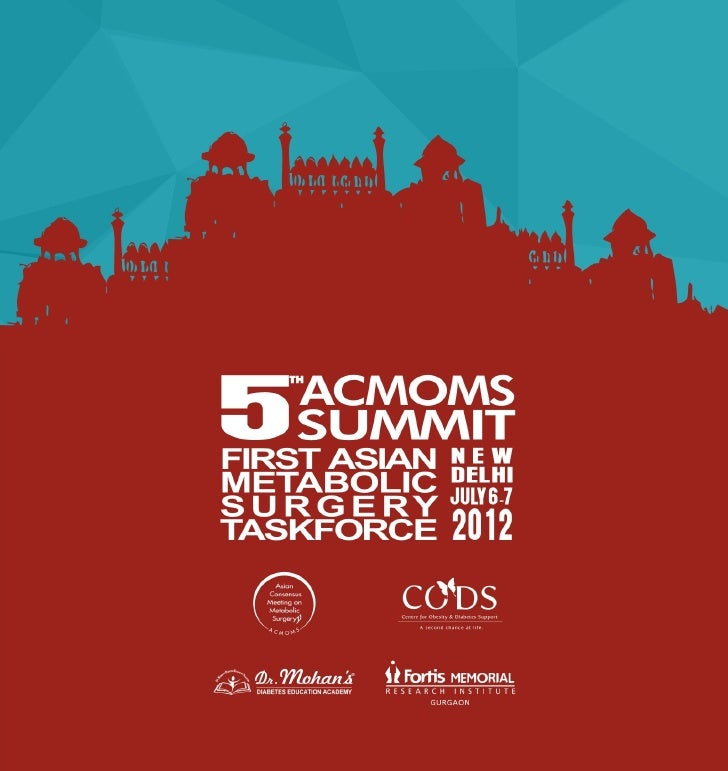 5th ACMOMS Summit, July 6&7, New Delhi