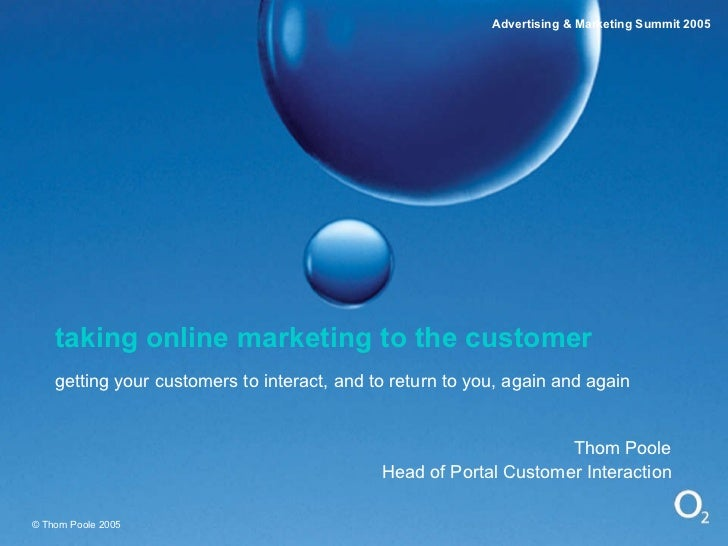 Taking Online Marketing To The Customer