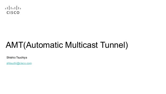 AMT(Automatic Multicast Tunnel)