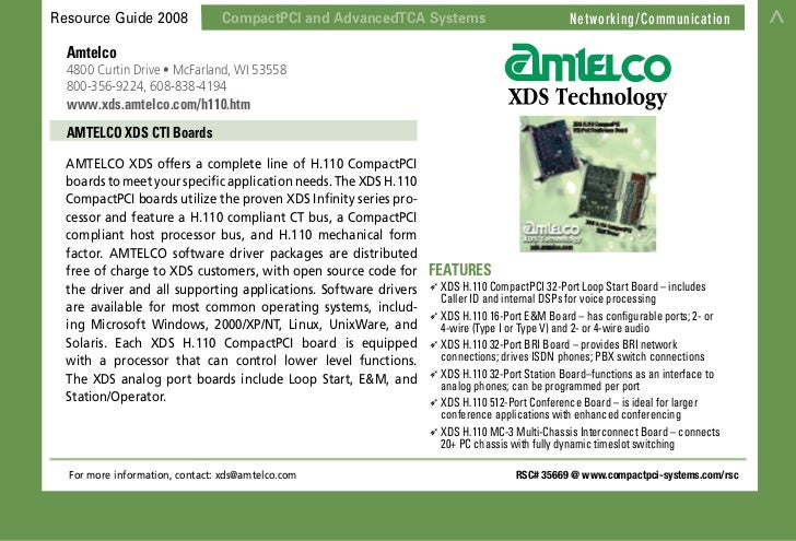 Resource Guide 2008             CompactPCI and AdvancedTCA Systems                                                        ...