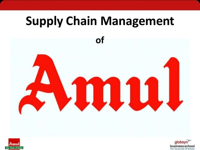 amul supply chain It is the distribution part of the supply chain from the manufacturing units to the retailers first leg of transport is from the manufacturing unit to the company depots.