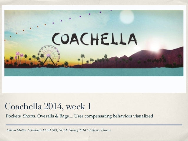 Coachella 2014 week 1 - Trend & Consumer compensating behaviors update
