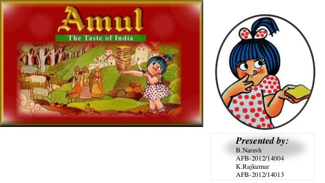 Marketing strategy of amul project