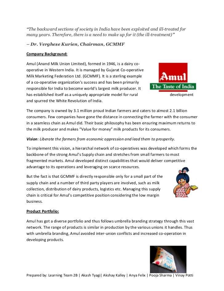 Amul supplychain futureinitiatives
