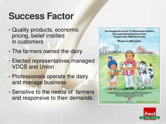economical factors of amul The world bank has stated that inclusive economic growth can be achieved by   analyzing the factors responsible for success of both these models in  the  kaira district milk cooperative union or amul in india successfully developed  such.