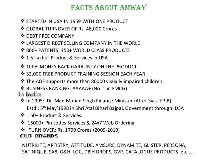 Amway is a pyramid scheme