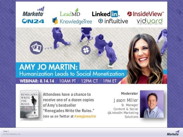 Amy Jo Martin: Humanization Leads to Social Monetization