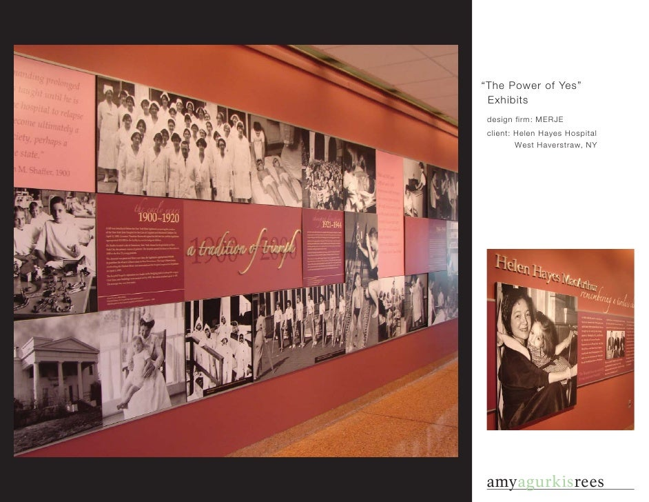 """The Power of Yes""  Exhibits  design firm: MERJE  client: Helen Hayes Hospital          West Haverstraw, NY     amyagurkis..."