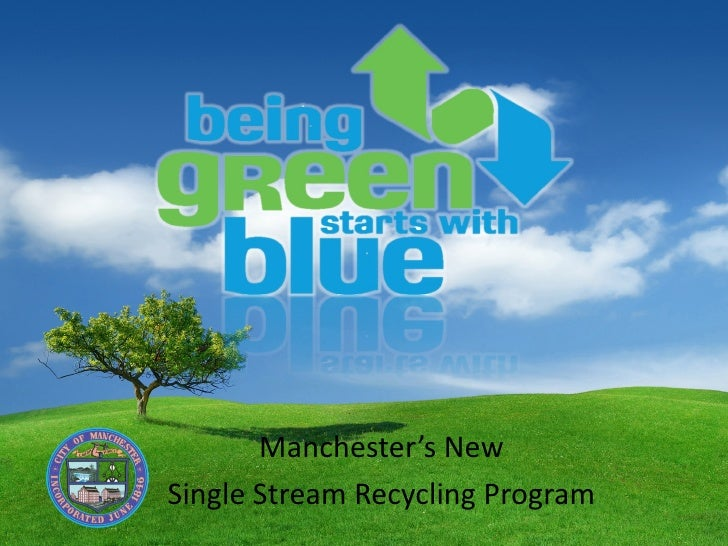 """Amy Allgaier presents """"Single Stream Recycling in Manchester."""""""