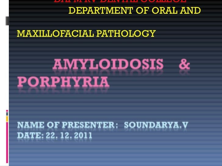 DAPM RV DENTAL COLLEGE DEPARTMENT OF ORAL AND  MAXILLOFACIAL PATHOLOGY
