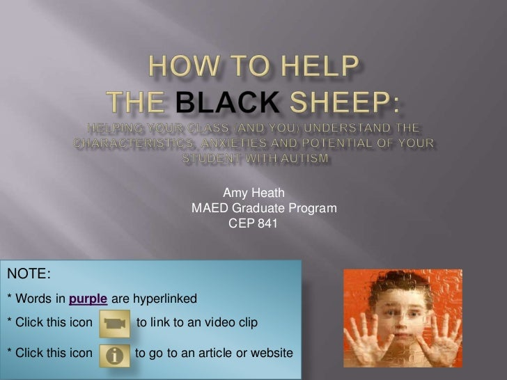 How to Help the Black Sheep:Helping your class (and you) understand the characteristics, anxieties and Potential of your S...
