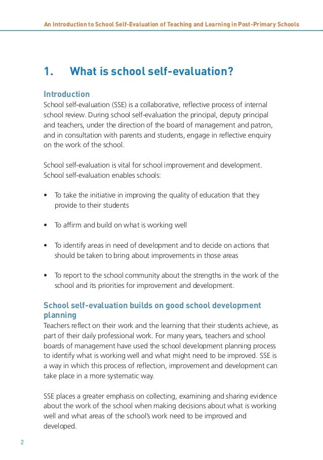 self evaluation 4 essay Open document below is an essay on self evaluation of speech from anti essays, your source for research papers, essays, and term paper examples.