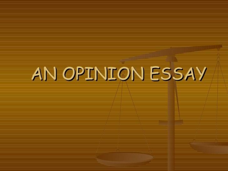 opinion essay form