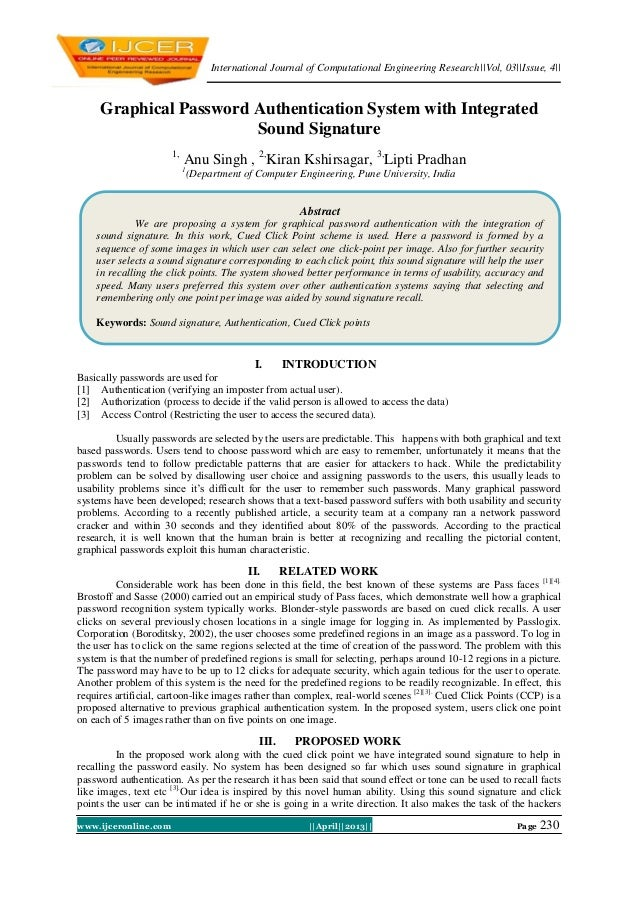 International Journal of Computational Engineering Research||Vol, 03||Issue, 4||www.ijceronline.com ||April||2013|| Page 2...