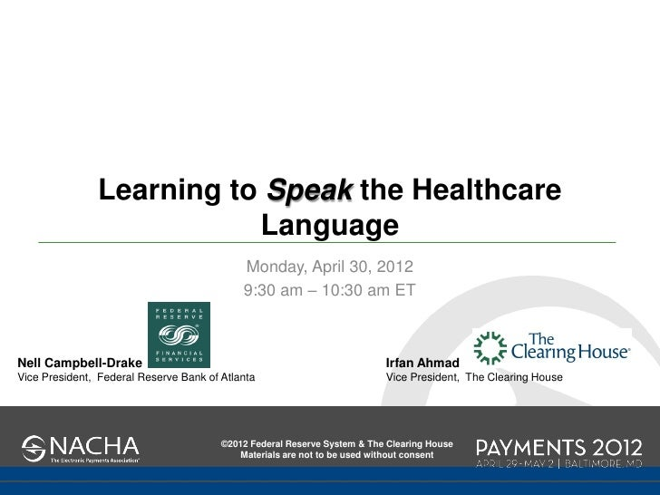 An12 353 - learning to speak the healthcare language