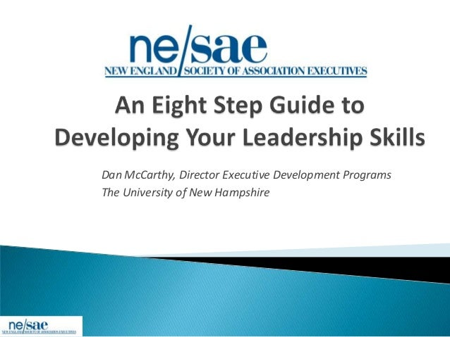 An 8 step guide to developing your leadership skills