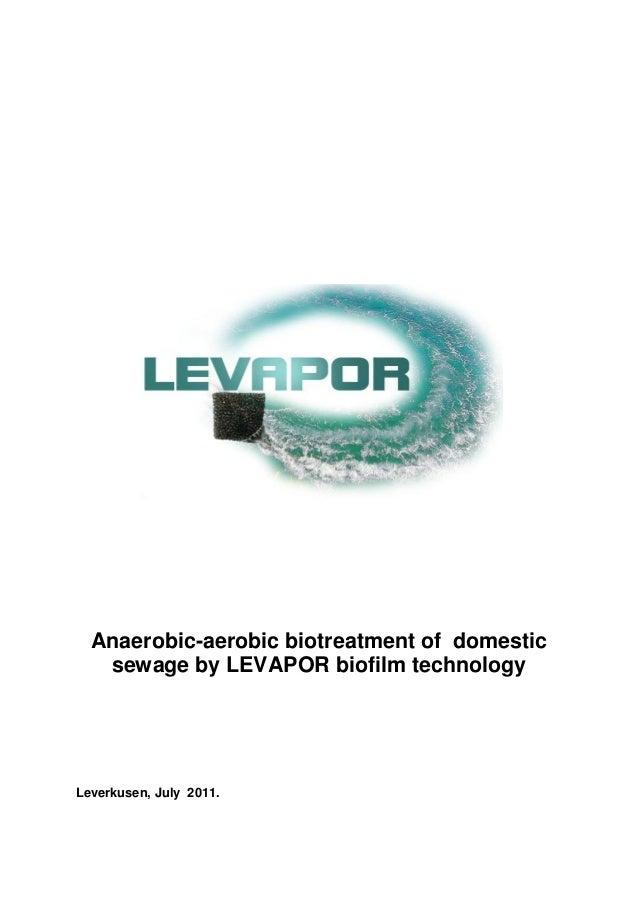 Anaerobic-Aerobic Treatment of Sewage