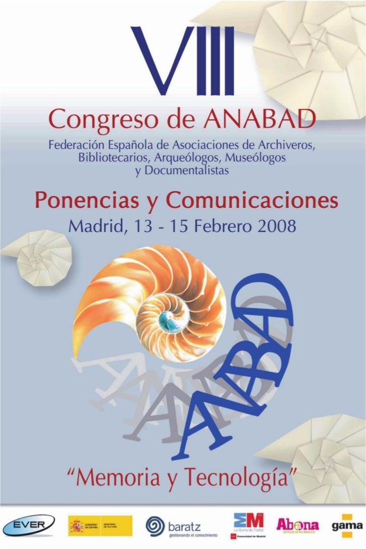VIII Congreso ANABAD