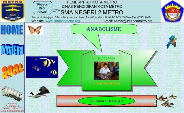 PEMERINTAH KOTA METRO DINAS PENDIDIKAN KOTA METRO SMA NEGERI 2 METRO Alamat: Jl. Sriwijaya 16 Polos Mulyosari Kec. Metro B...