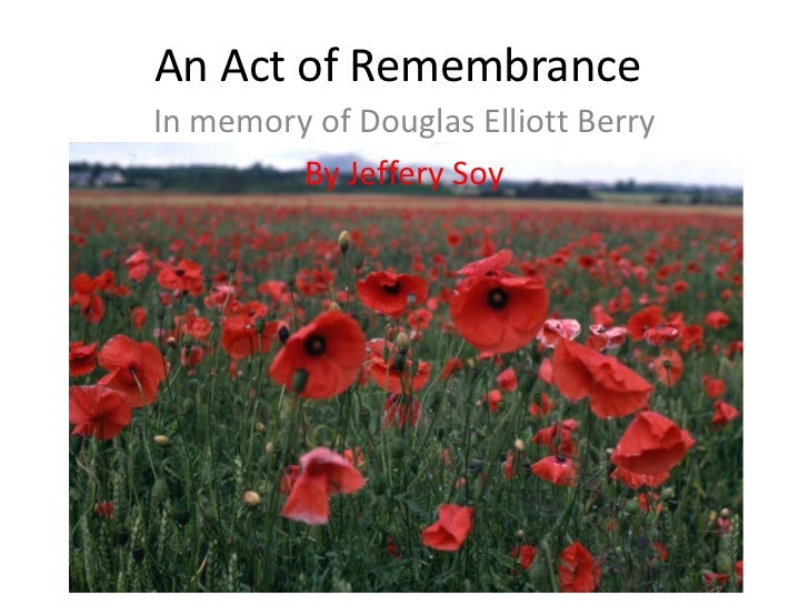 An act of remembrance