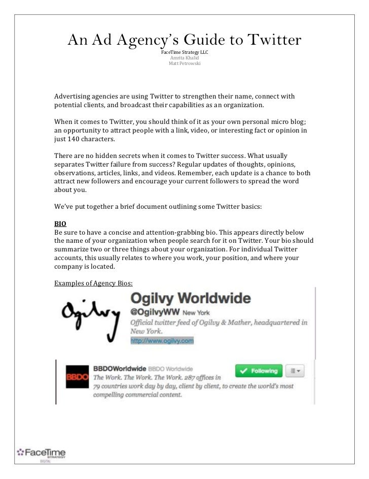 An ad agency's guide to twitter 4.10.11