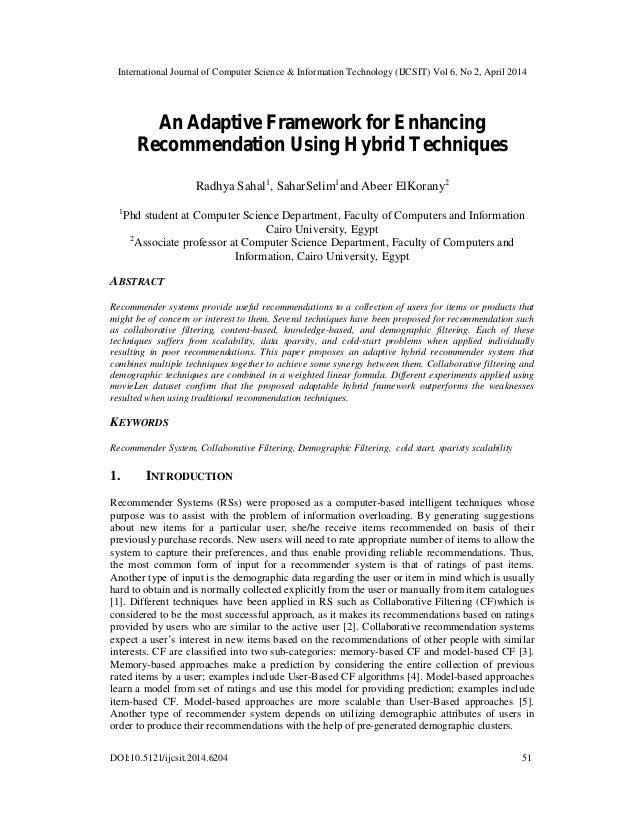 International Journal of Computer Science & Information Technology (IJCSIT) Vol 6, No 2, April 2014 DOI:10.5121/ijcsit.201...