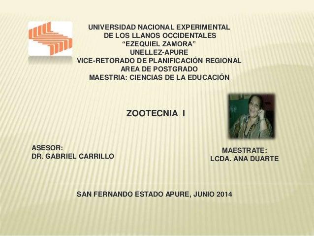 """UNIVERSIDAD NACIONAL EXPERIMENTAL DE LOS LLANOS OCCIDENTALES """"EZEQUIEL ZAMORA"""" UNELLEZ-APURE VICE-RETORADO DE PLANIFICACIÓ..."""