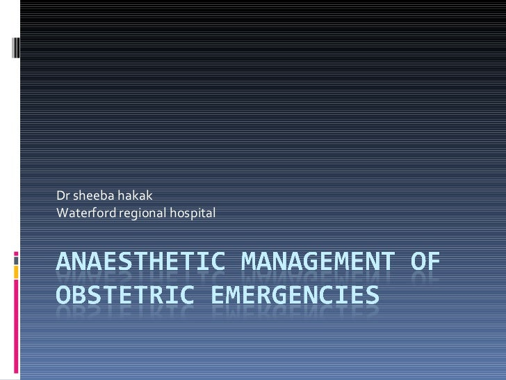 Dr sheeba hakak Waterford regional hospital