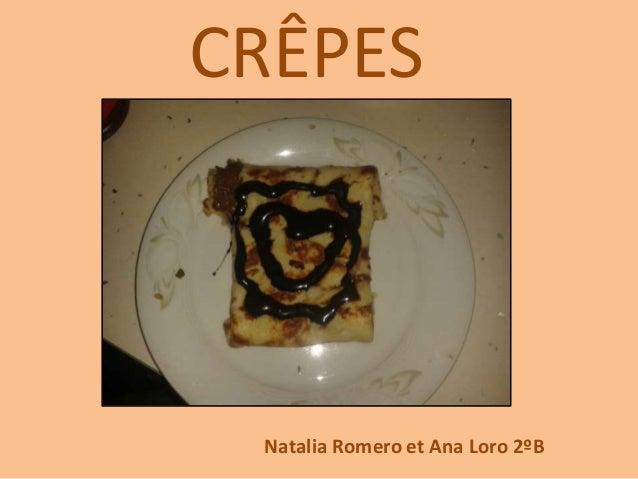 CRÊPES Natalia Romero et Ana Loro 2ºB