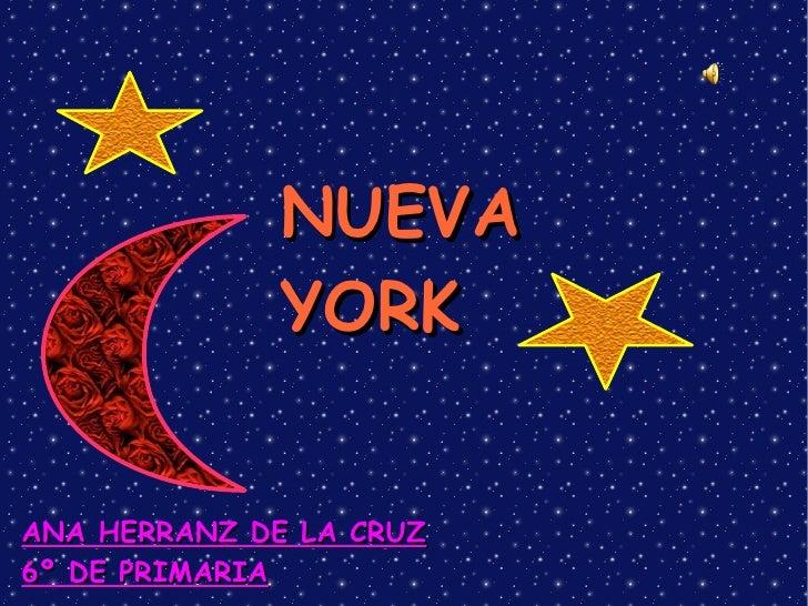 NUEVA YORK ANA HERRANZ DE LA CRUZ 6º DE PRIMARIA