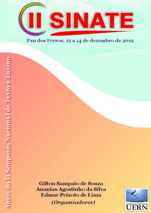 Anais do II Simpósio Nacional de Texto e Ensino (Edição Eletrônica)