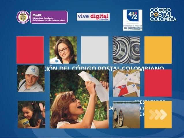 Evolución del Código Postal en Colombia, Ana Julia Sarria Alvarez - 4-72, Colombia