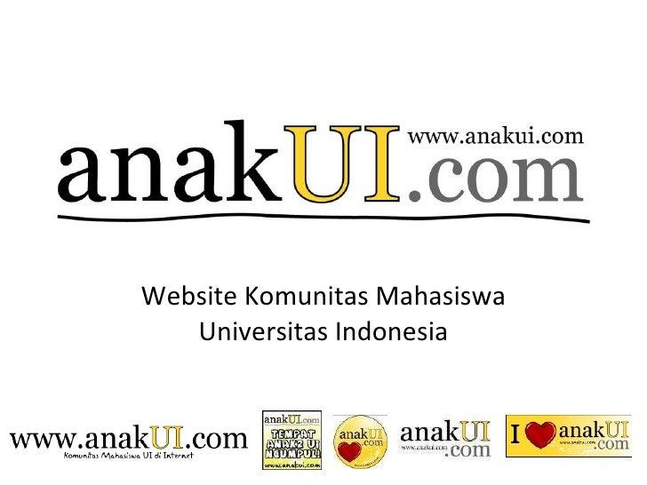 Website Komunitas Mahasiswa Universitas Indonesia