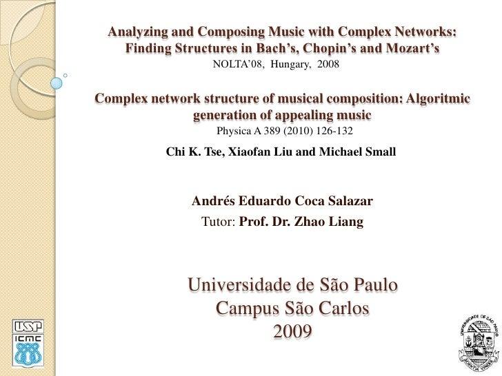 Analisando e compondo musica com redes complexas