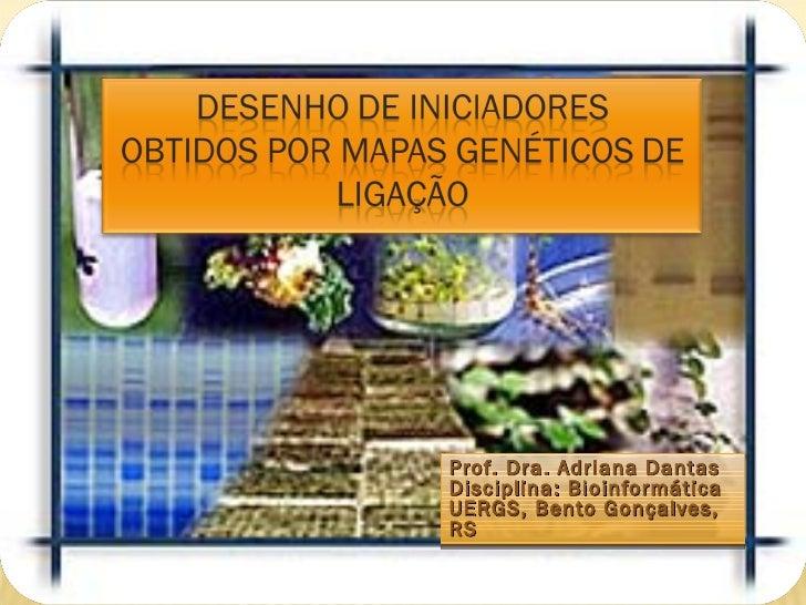 Prof. Dra. Adriana DantasDisciplina: BioinformáticaUERGS, Bento Gonçalves,RS