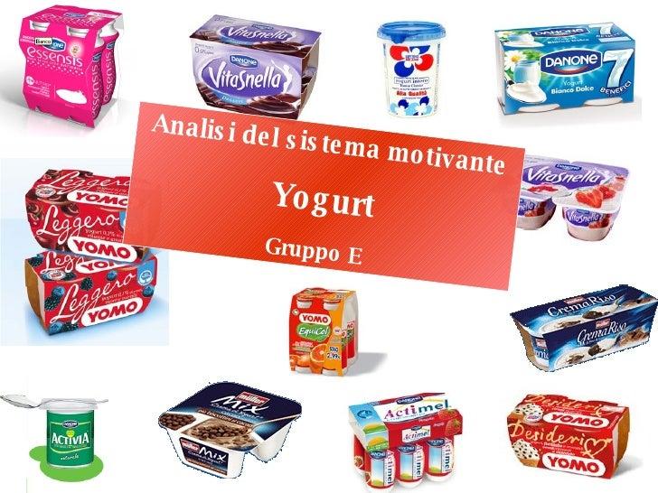 Analisi del sistema motivante Yogurt Gruppo E