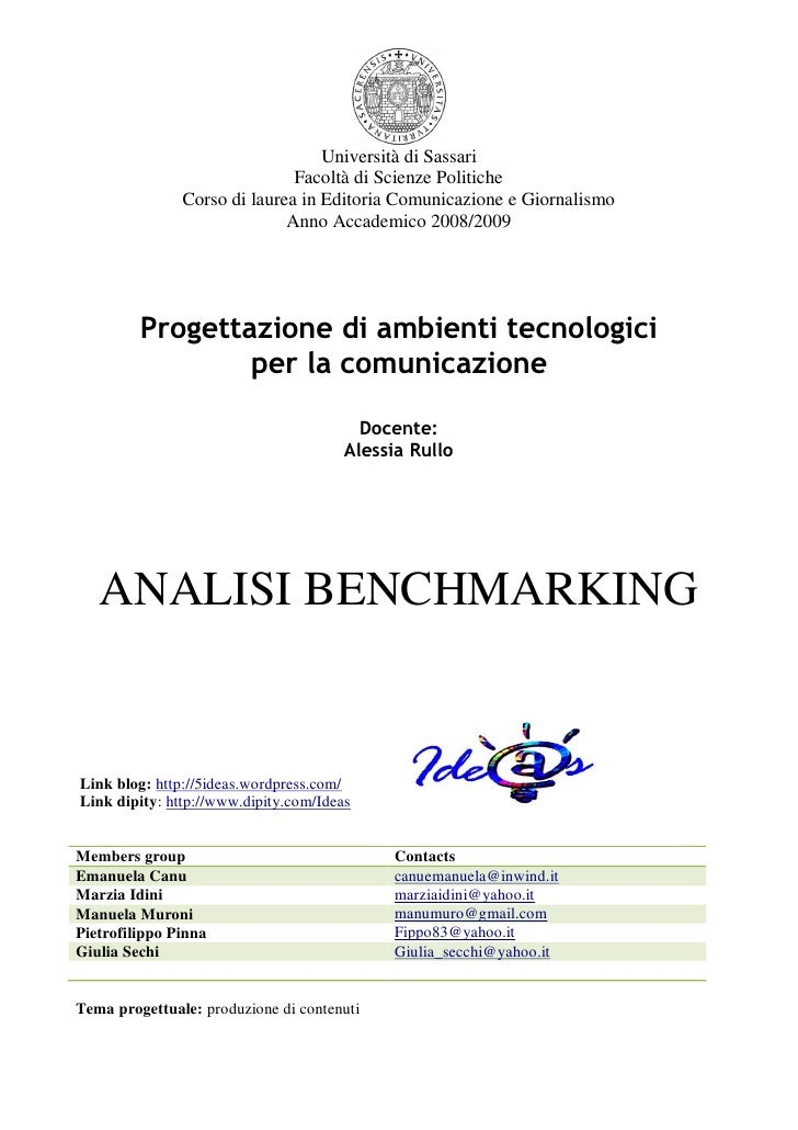 Analisi Benchmarking Ide@S Def.