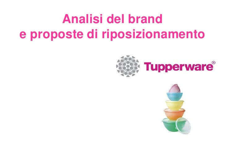 Analisi brand Tupperware
