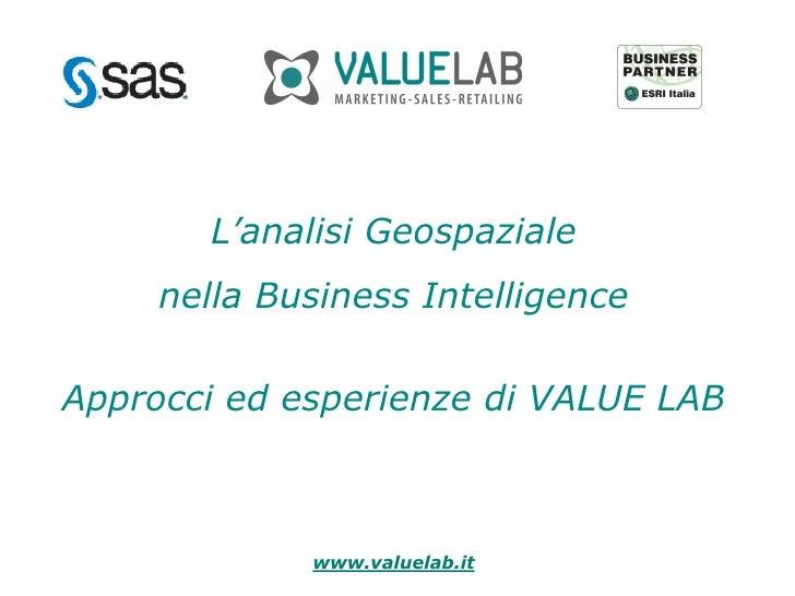 Analisi geospaziale nella business intelligence